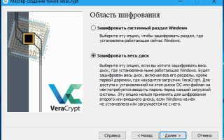 Шифрование системного диска. Установка VeraCrypt в Windows