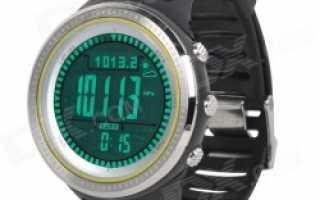 полезными функциями. Китайские туристические часы с высотомером компасом и др