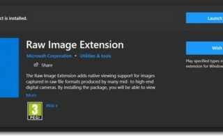 Raw Image Extension — плагин от Microsoft, позволяющий просматривать RAW изображения в Проводнике Windows 10