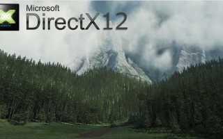 Установка directx 12 на Windows 10
