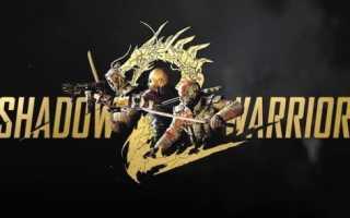 Shadow warrior 2 долгая загрузка. решение проблем