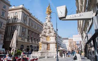 Чумная колонна на улице Грабен в Вене