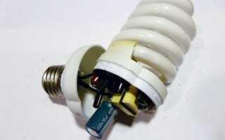 Как с энергосберегающей лампы сделать светодиодную. Как сделать блок питания из энергосберегающих ламп